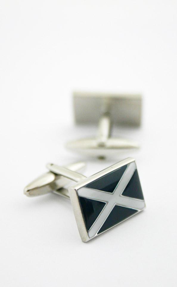 Saltire Enamel Cuff Links Clan By Scotweb
