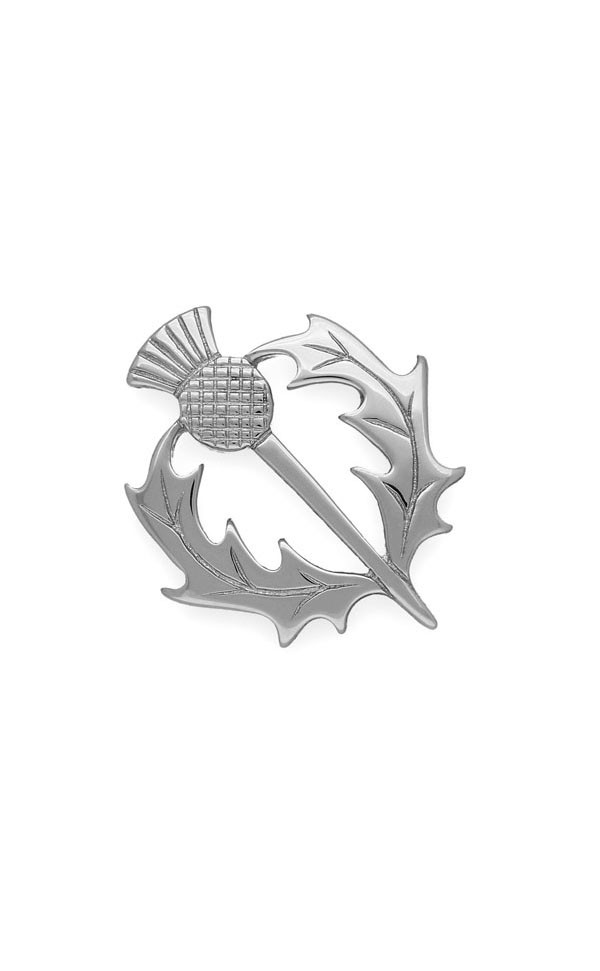 Thistle Brooch B38 Front