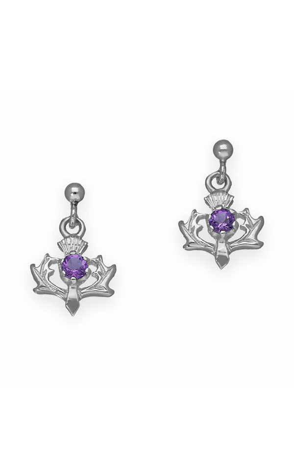 Thistle Drop Earrings CE9 Front