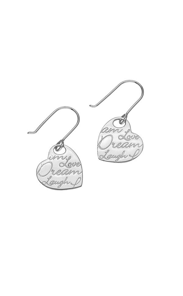 Script Earrings E1471 Front