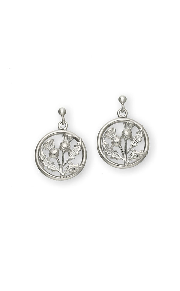 Thistle Drop Earrings E27 Front
