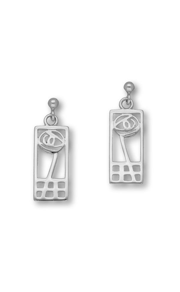 Charles Rennie Mackintosh Drop Earrings E625 Front