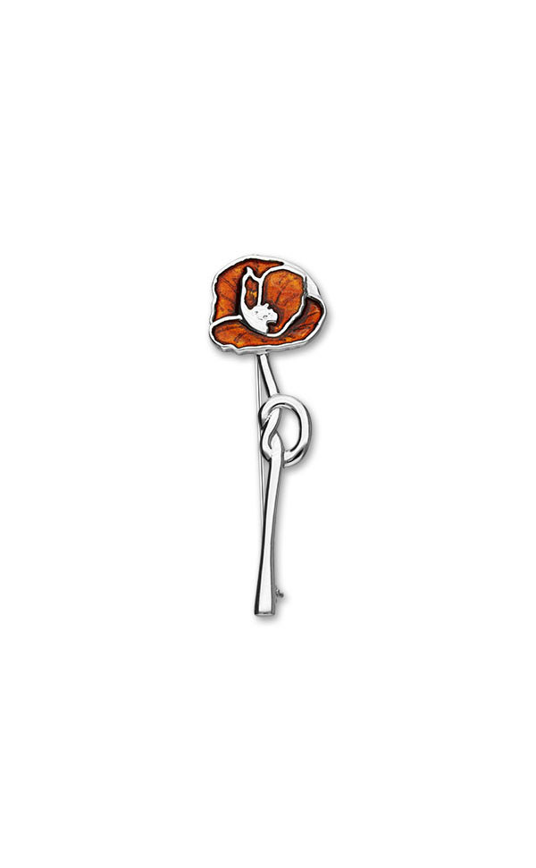 Poppies Brooch EB113 Front
