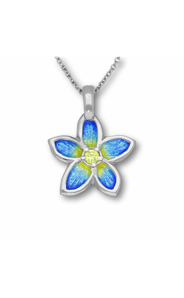 Happy Valley Pansy Pendant ECP15 Front