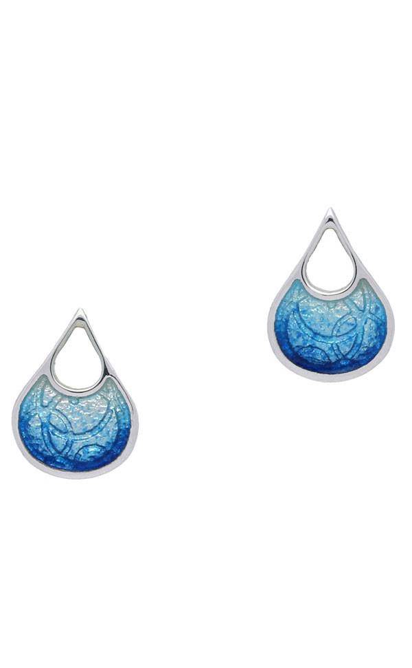 Elements-Water Waterfall Stud Earrings EE420 Front