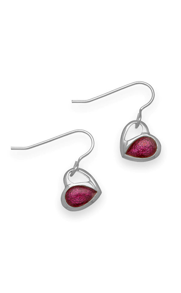 Hearts Drop Earrings EE489 Front