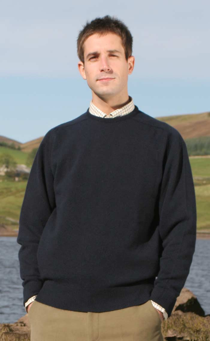 Luxury Scottish Cashmere Sweater, Crew Neck | CLAN by Scotweb
