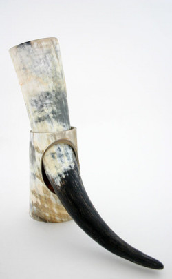 Rough Drinking Horn With Stand