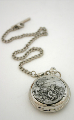 Highland Piper Pocket Watch