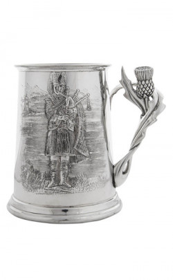 Piper and Thistle Handle Tankard