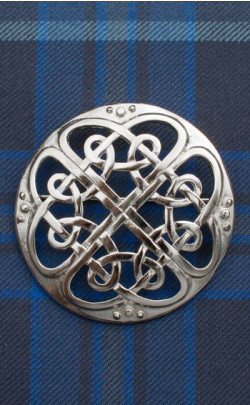 Cathedral Plaid Brooch
