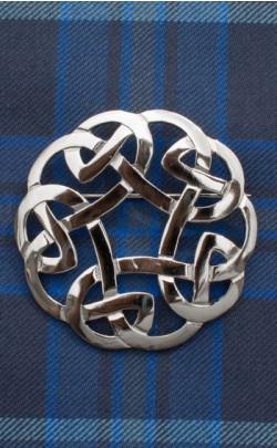 Celtic Interlaced Plaid Brooch