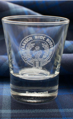 Clan Crest Dram Glass
