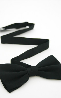 Black Adjustable Bow Tie