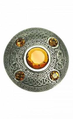 5 Stone Plaid Brooch