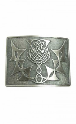 Highland Thistle Belt Buckle (Antique Silver)