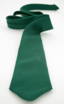 Classic Plain Wool Tie, Medium Weight