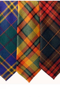 Classic Tartan Tie in Irish Tartans, Medium Weight