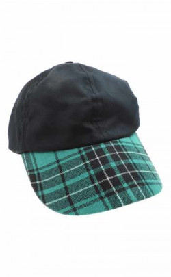 Gents Worsted Wool Tartan Peak Baseball Cap