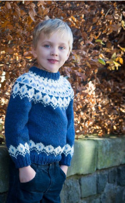 Child's Blue Icelandic Jumper
