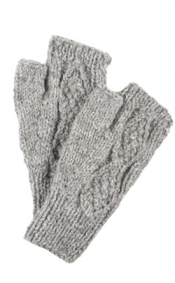 Fingerless Hand‑Knitted Luxury Aran Mittens