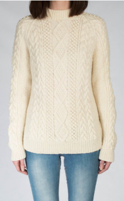 Ladies Luxury Hand‑Knitted Aran Sweater ‑ Moorfoot