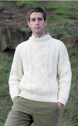 Mens Hand‑Knitted Luxury Aran Sweater ‑ Ben More