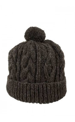 Mens Hand-Knitted Luxury Aran Ski Cap - Glenshee