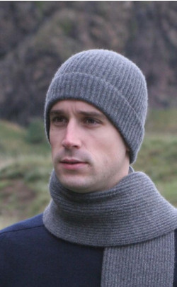 Knitted Luxury Scottish Cashmere Hat