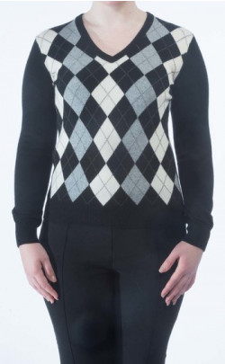 Luxury Cashmere 'Golf Style' V‑Neck Sweater