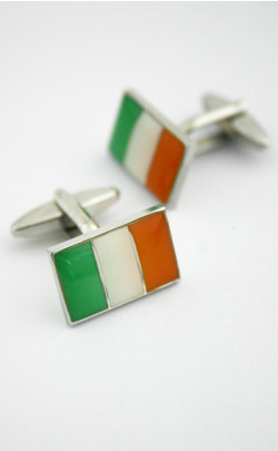 Irish Flag Cuff Links
