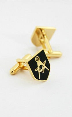 Black Masonic Emblem Cuff Links