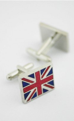 Union Jack Rhodium Cuff Links