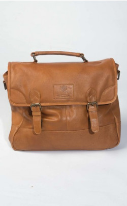 Genuine Leather Tan Briefcase