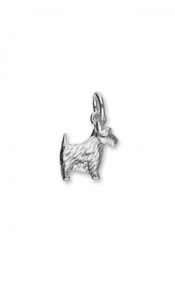 Scottie Dog Charm, 9ct Gold or Silver.