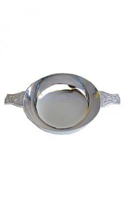 Silver Plated Celtic Quaich