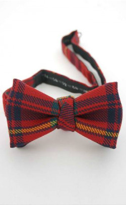 Luxury Adjustable Tartan Bow Tie