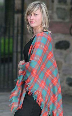 Luxury Tartan Wool Shawl