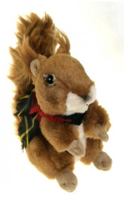 Susan the Squirrel With Tartan Scarf
