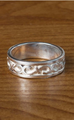 Silver Celtic Wedding Ring ‑ FR111