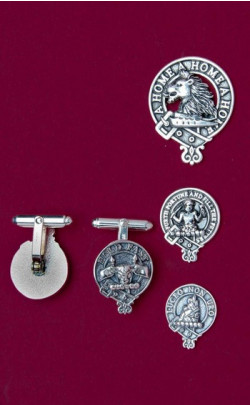 Clan Crest Silver Cuff links