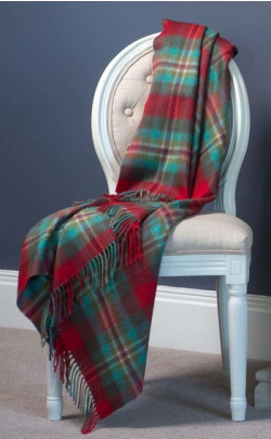 Luxury Cashmere Throw, Merchiston Plaid