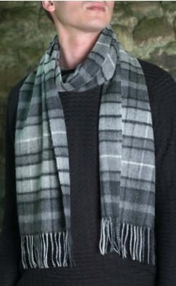 Large Classic Scottish Cashmere Tartan Scarf