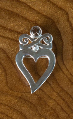 Scottish Quartz Celtic Brooch