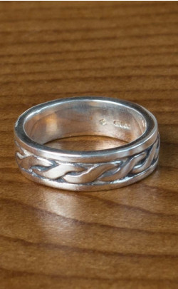 Silver Celtic Patterned Ring ‑ FR97