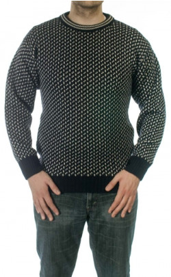 Navy and Ecru Dover Sweater