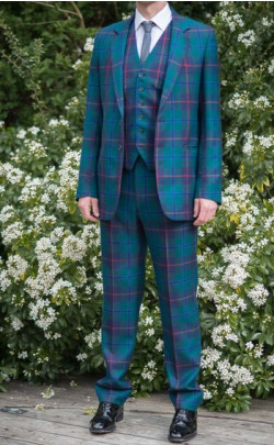 Men's Three‑Piece Tartan Suit
