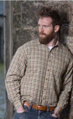 Fleece‑lined Checked Shirt