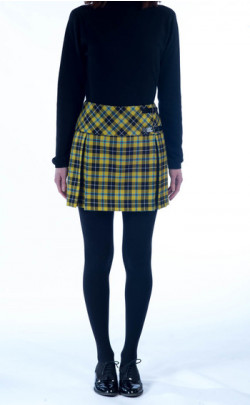 Box Pleat Mini Kilt, tartan