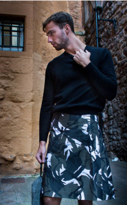 Arctic Camouflage Casual Kilt